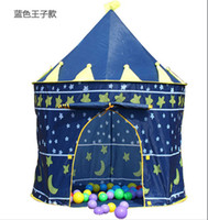 Wholesale 24pcs Prince and Princess Palace Castle Children Playing Indoor Outdoor Toy Tent colors mixed