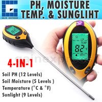 Wholesale ZD in Digital pH Meter measure Soil PH Temperature Moisture Sunlight Tester with Backlight