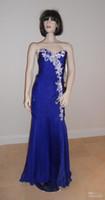 2011 prom - 2011 Long Prom Dresses Strapless Chiffon Gown Rhinestone Beads Evening Dresses Designer Dresses