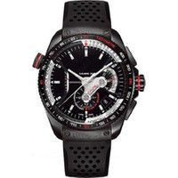 Luxury Men's Complete Calendar luxury fashion watch calibre rs36 for men automatic watches mens wristwatch black dial rubber band
