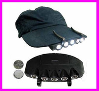 Wholesale Promotion Sale New Black LEDS Camping Fishing Clip Hat Cap LED Light Lamp Headlamp