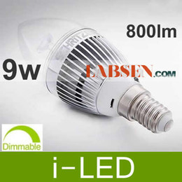 9w led candle bulb dimmable led light E12 E14 85-265v 800 LM warm white pure white 180 beam angle