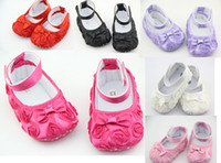 Wholesale SZZY0050 fashion rose baby First walk shoe soft sole infant shoe home shoe baby toddler shoe baby footwear seven color to you
