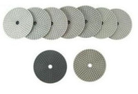 Wholesale 4 quot Good quality diamond polishing pads white pane AAA for marble and granite Both for dry and wet