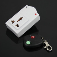 Wholesale Brand New White and Black IR Wireless Remote AC Power Switch Outlet Socket Plug