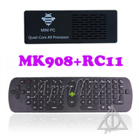 Wholesale Tronsmart MK908 RK3188 Quad Core Mini TV Box HDMI PC GB RAM G ROM Android Stick Dongle With RC11 or RC12 Air Fly Mouse Wireless Keyboard