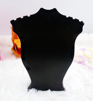 Wholesale Plastic Jewelry Necklace Pendant Retail Sale show display stand holder Rack BLK black ssls035