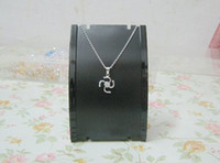 Wholesale Plastic Jewelry Necklace Pendant Retail Sale show display stand holder Rack BLK black