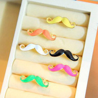 Wholesale R029 Korean jewelry candy colored the new personalized beard ring color beard Ring Ring