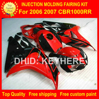 For Honda abs works - Custom race fairing kit for HONDA CBR1000RR CBR RR fairings motorcycle parts body work set aftermarket new red black G4a
