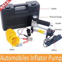 Wholesale High Quality Inflator Pump Air Pumps V W Psi L Min Mini Portable Air Compressor Tire Inflator Car Tyre Pump Drop