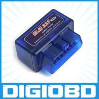 Wholesale Super Mini ELM327 Bluetooth OBDII OBD2 Wireless Mini Elm327 Interface V1 All OBDII Protocols obd elm327 bluetooth adapter ELM