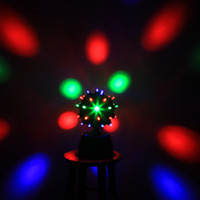 Wholesale EU V Voice activated LED RGB Stage Light Rotating Magic Ball Stage lighting Effect Light Disco Pa
