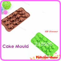 Wholesale Unique Dinosaur Design Xmas Chocolate Cake Cookie Muffin Jelly Baking Silicone Bakeware Mould Mold