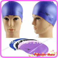 Wholesale Stylish Flexible Light Durable Sport Silicone Swimming Cap Bathing Hat Colors