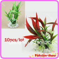 Wholesale color Aquarium Plastic Plants Grass Decorative Fish Tank Landscape Decoration