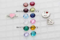 Wholesale bling sparkling best shiny floating charm mm round birthstone colors available no glass locket this order