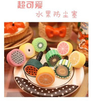 Earphone Jack Plugs   Cute Fruit Dustproof Ear Cap Anti Dust Plug Stopper for 3.5mm Jack iphone 4 4S ipod Smart Phone 25 different styles