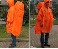 Wholesale Best Multifunction Adult Raincoats Polyester Backpack Waterproof Rain Cover Red Green