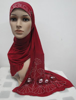 Wholesale H076 long hijab with shawl and flowers fast delivery mixed colors