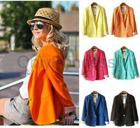 Wholesale Ladies Cotton Black Suits - Wholesale-2016 New Fashion Brand Blazer Women Suit Solid Color High Street Jackets Coat Office Lady Business Cool Blazers Plus