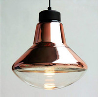 glass dining room - Tom Dixon copper shade pendant lighting Modern glass dining room Chandelier creative lighting fixtures