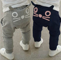 Wholesale 2013 Hot Sale New Baby Kids Clothing Children s Casual Pants lovely cats harem pants Cotton trousers