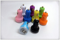 Dual Port USB Car Charger USB Adapter 2100mah Colorful Car C...