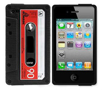 Silicone arrival cassettes - New Arrival Luxury colorful CASSETTE TAPE CASE COVER SKIN silicon Case For iphone G
