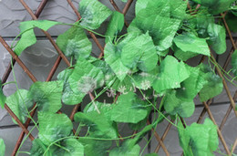 Wholesale Simulation grape large leafs artificial green vines of grape Winding vine flowers Home Decor