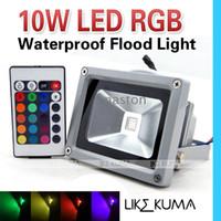 10W RGB Прожектор водить яркий высокой мощности 85-265 Водонепроницаемый Открытый свет потока лампы высокого качества освобождает перевозку груза