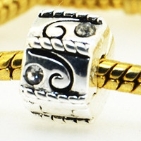 Charms   925 Silver charm European Bead Compatible with Snake chain Bracelets #276