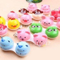 Wholesale 10pcs Animal Contact Lens Case animal Lenses Box Color Cute Contact lens case Cartoon Glasses bo