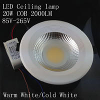 Wholesale 20W COB LED Ceiling Light V LED Downlight Spotlight Fixture Lamp Cool White Warm White