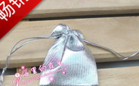 Wholesale a sell Silver colour Pouch fit for ring Earring chain nice gift bag best choose for a packing
