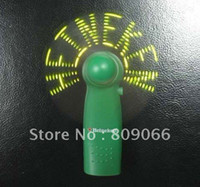 Wholesale 2013 New Design Mini LED Flash message usb programmable fan with battery operated