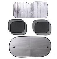 Wholesale hot sale Metallic Auto Sun Visor Reflective Shade Window Cover Car Front Side Rear shade New