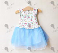 Wholesale Summer Girls dress Korean new style partysu little Broken beautiful agaric side children dresses kids skirt colour size