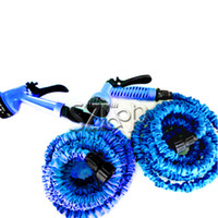 Wholesale Nozzles Expandable amp Flexible Blue Water Garden Pipe FT FT FT