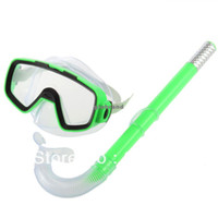Cheap GHJB728 50pcs lot New Arrival,PVC Swimming Scuba Anti-Fog Goggles Mask & Snorkel Set
