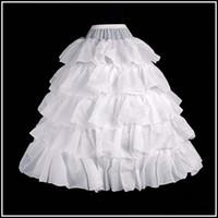 Polyester beaded garments - HOOP lotus leaf White Petticoat Flower Girl Dress Wedding Gown Crinoline Petticoat Skirt Slip Underskirt Free hipping Q445