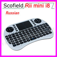 Wholesale Russian Russia Rii mini i8 Multi media Remote control and touchpad function handheld keyboard Keyboard CN160227