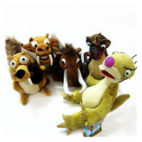 Wholesale 5 style Elephant bradypod Squirrels Tiger plush toy Ice Age doll children gift