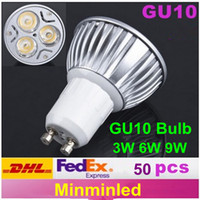 Wholesale High Power W W W GU10 Dimmable LED Light Downlight LED Spotlight bulb no shadow usually stock it