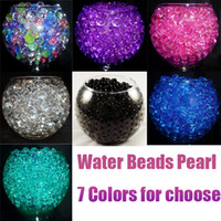 Wholesale 100 Water Beads Crystal Jelly Balls Water Marbles Pearls Floral Wedding Plants Centerpieces