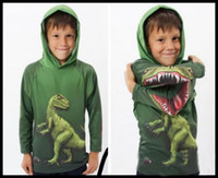 Wholesale 2013 Baby s dinosaur hoodies cute kid s wear children unisex clothes baby s green garment boys girls hoddy