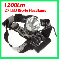 Wholesale 1200LM CREE T6 LED mode Bicycle Head Lamp and Wearing dual use with mah v battery