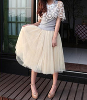 Wholesale Princess Fairy Style Layers Voile Tulle Skirt Bouffant Puffy Skirt Long skirts Fashion