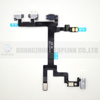 Wholesale 10pcs Power Button Volume and Silent Switch Keypad Flex Cable Replacement Repair Parts For iPhone G