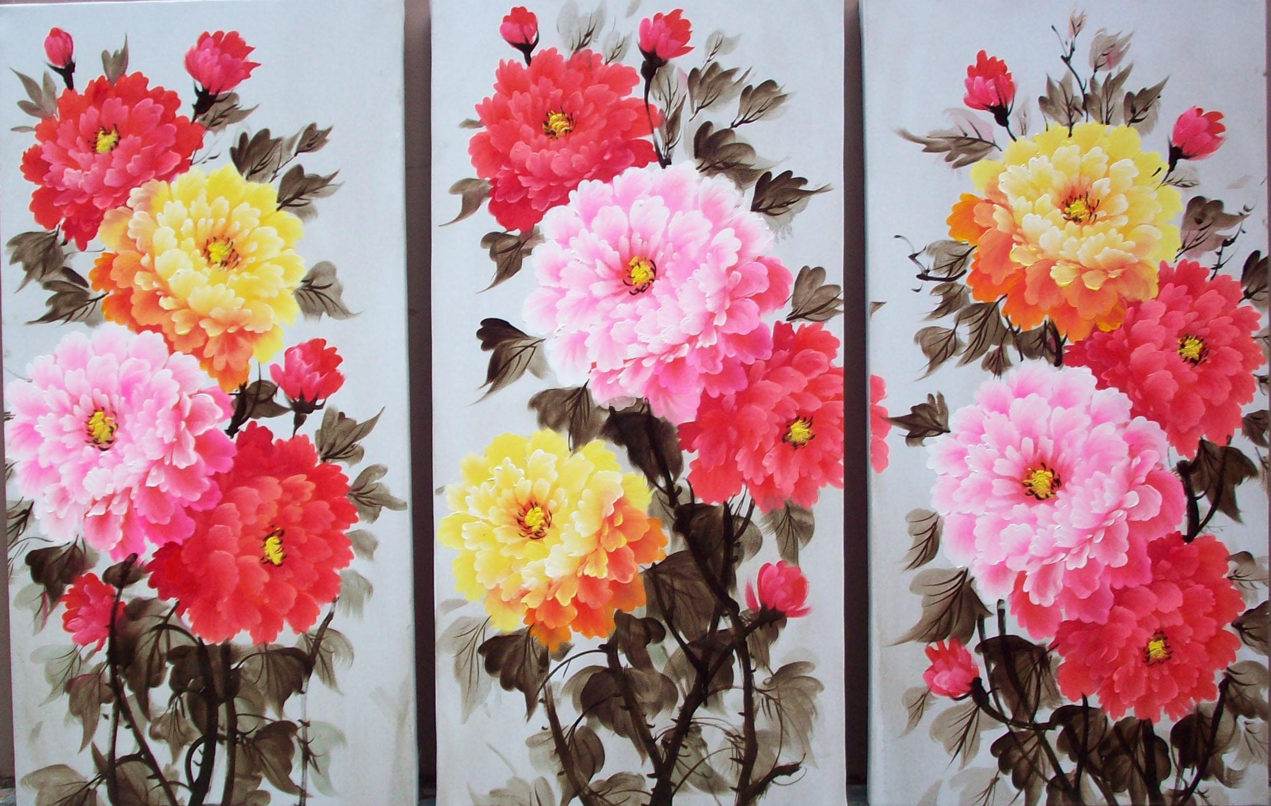 Colorful Flowers Painting Colorful Flowers Painting
